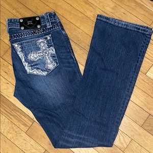 Miss Me bootcut jeans pants bottom denim